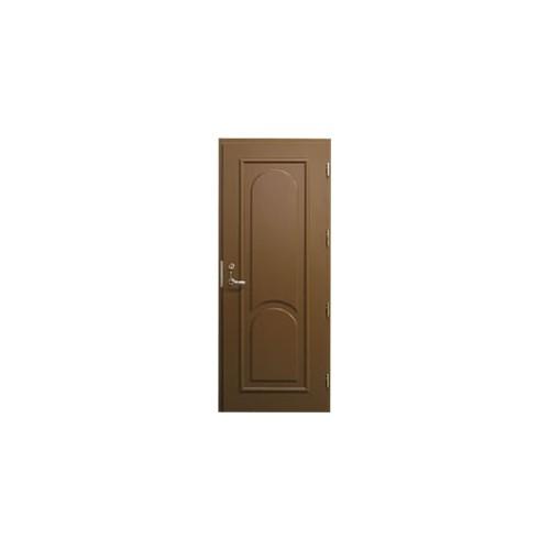 Išorinės lauko durys su pridėtiniais apdailos elementais